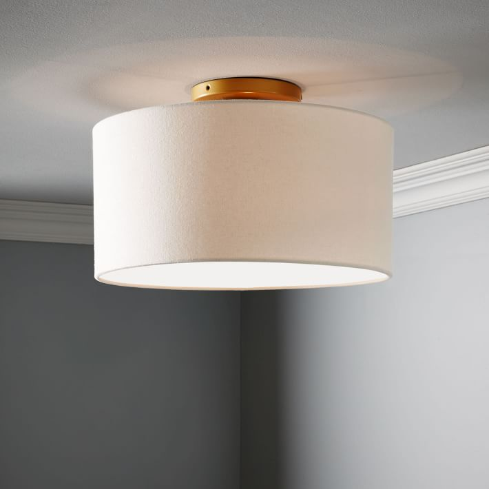 Classic Fabric Flush Mount Light