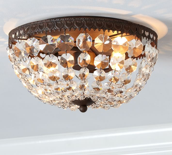 Mia Crystal Flush Mount