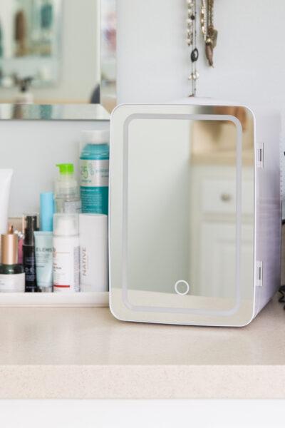 Skincare Fridge in the Bathroom