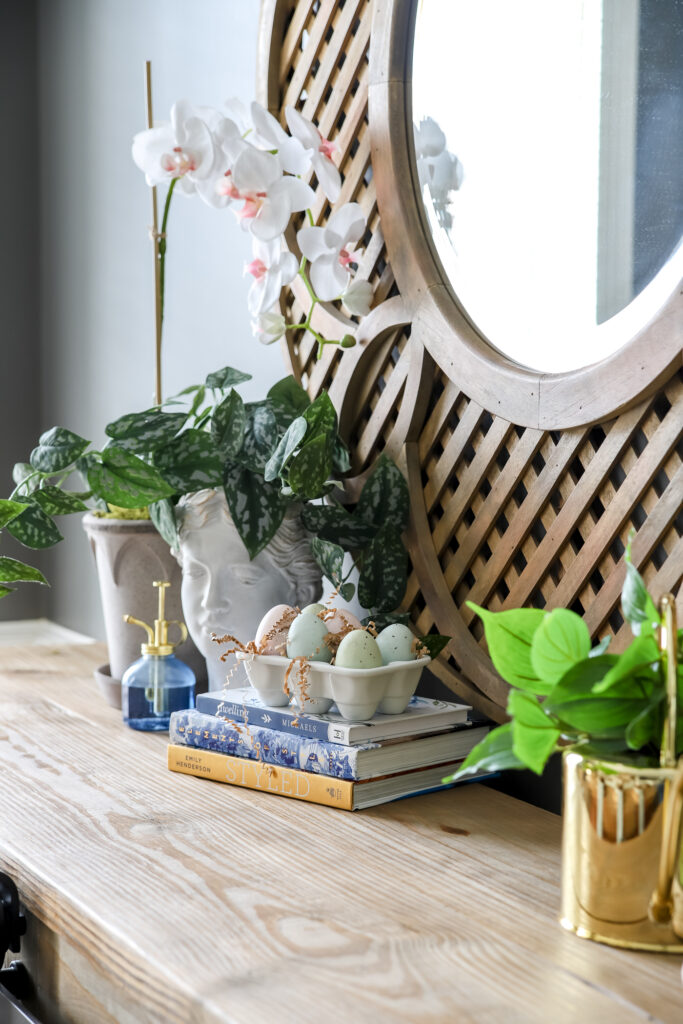 Spring Gardening Decor in Dining Room