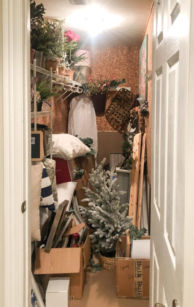 Before Storage Closet Organization