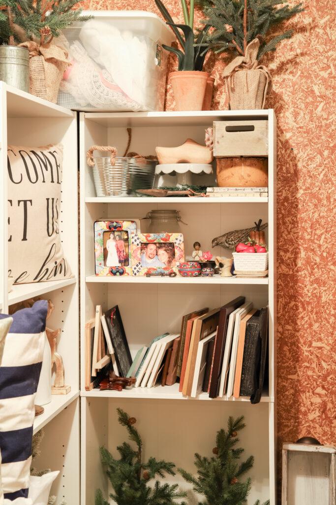Frames and Small Decor in Decor Closet