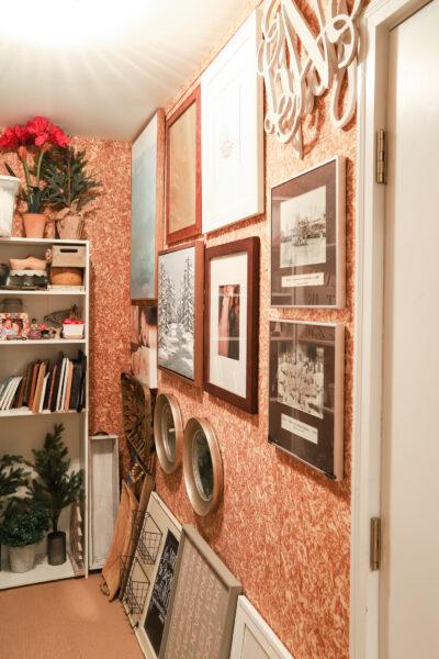Hanging Frames in Decor Closet
