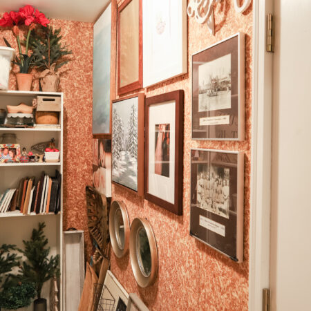 Hanging Frames in Decor Closet