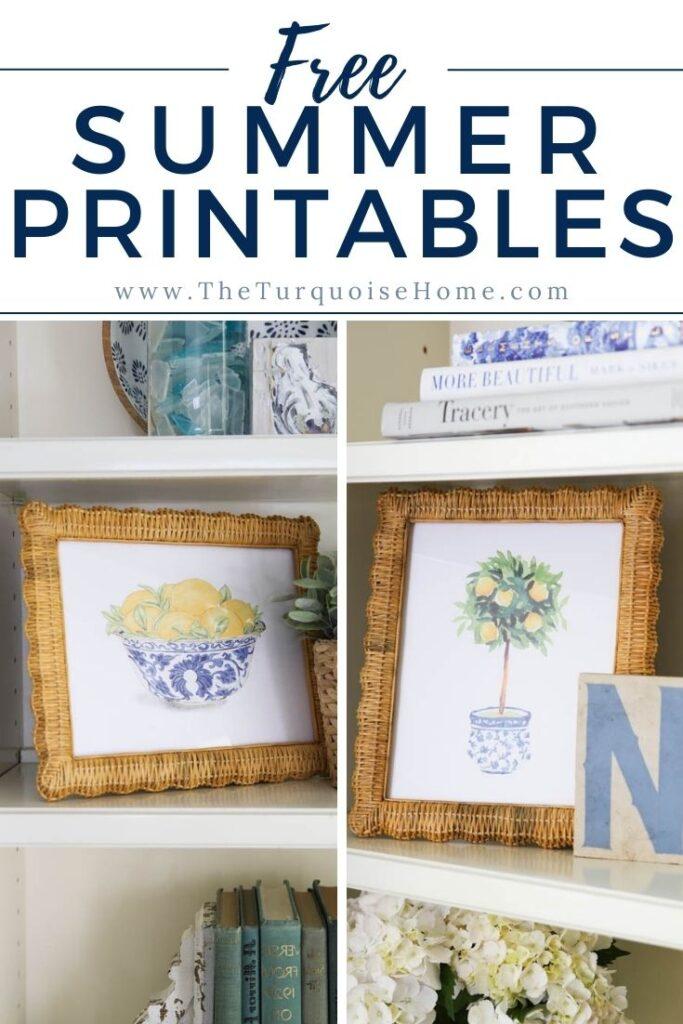 Free Lemon Tree Summer Printables