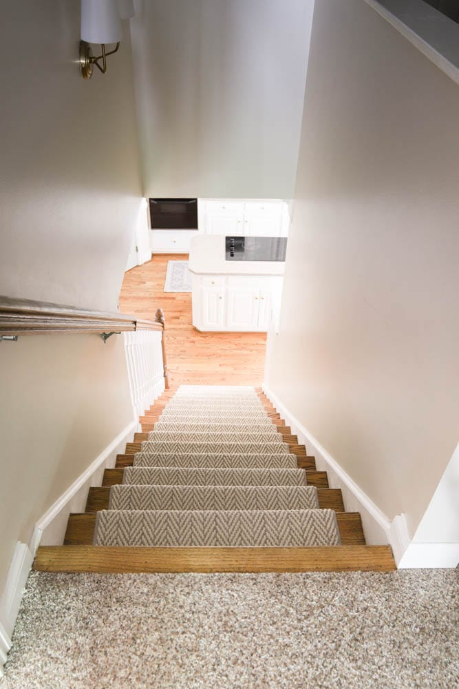 Stair Runner leading to kitchen