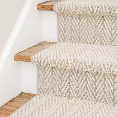Stair Runner over hardwood floors