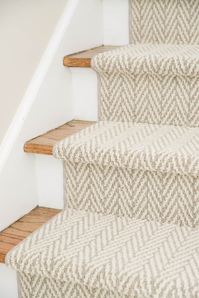 Stair Runner over hardwood floors