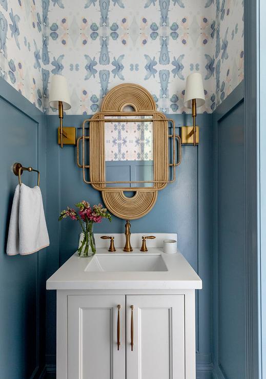Blue and White Powder Bath