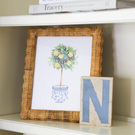 Lemon Tree in Blue & White Ginger Jar Free Printable