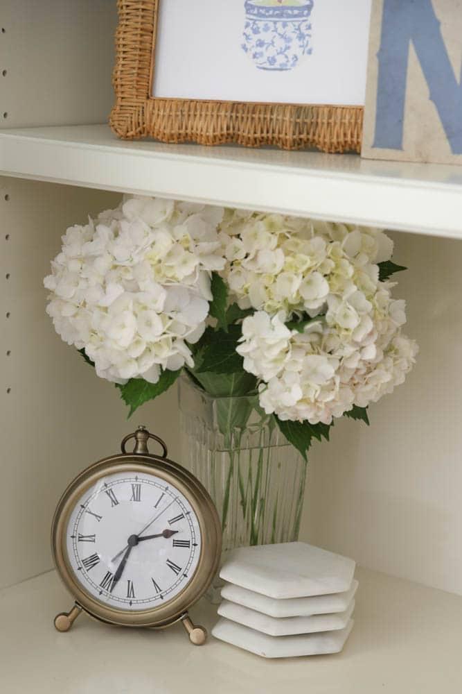 White hydrangeas for summer decor