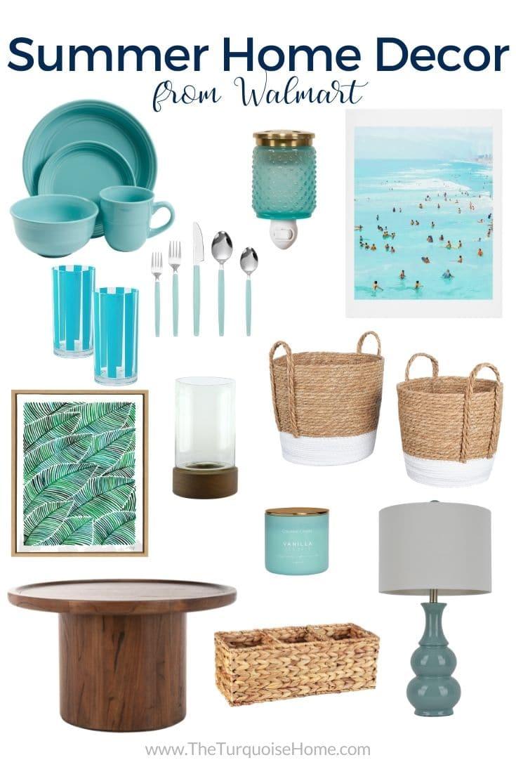 Blue White Summer Home Decor