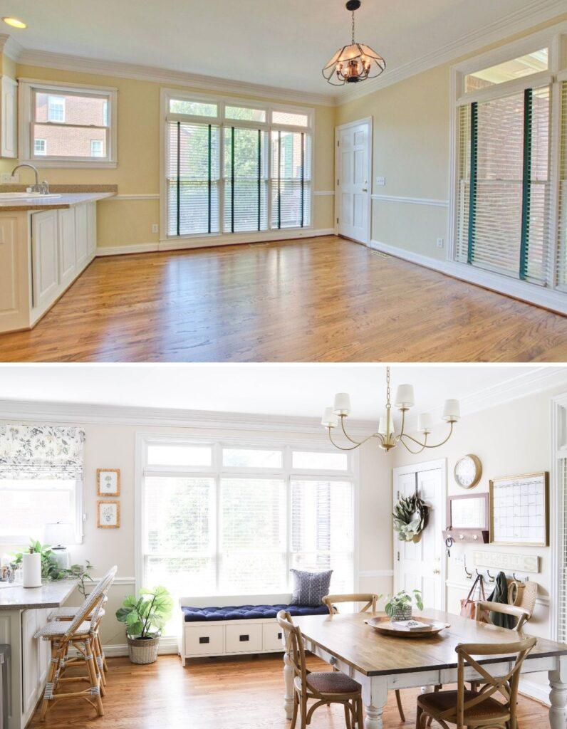 Eat-In Kitchen Refresh Before and After