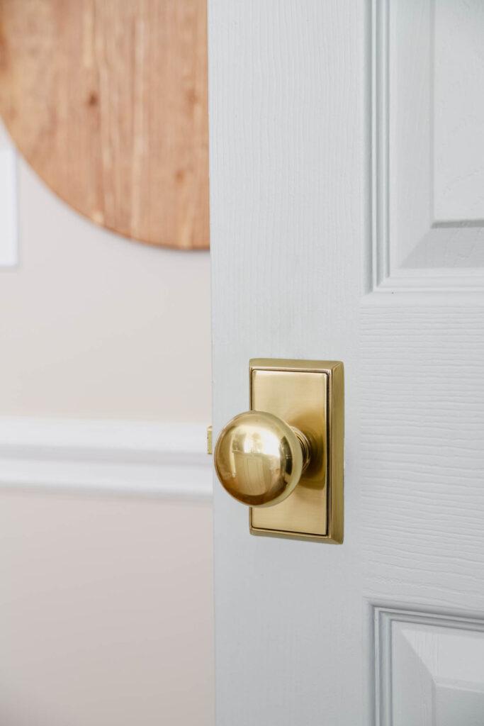 Brass Door Knob in Kitchen
