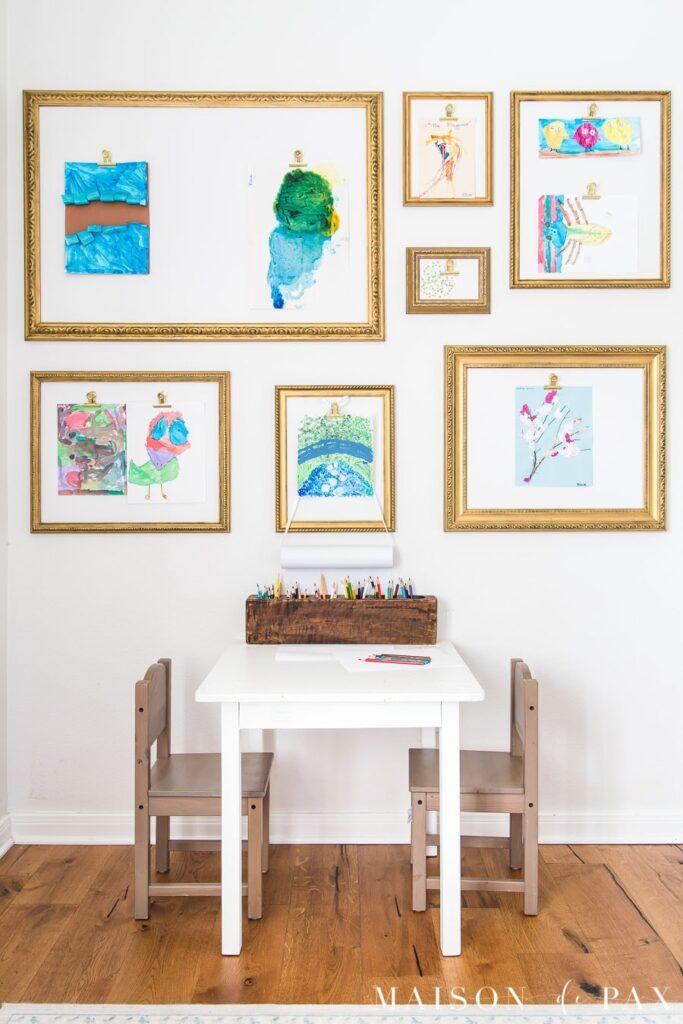 Kids Art Display from Maison de Pax