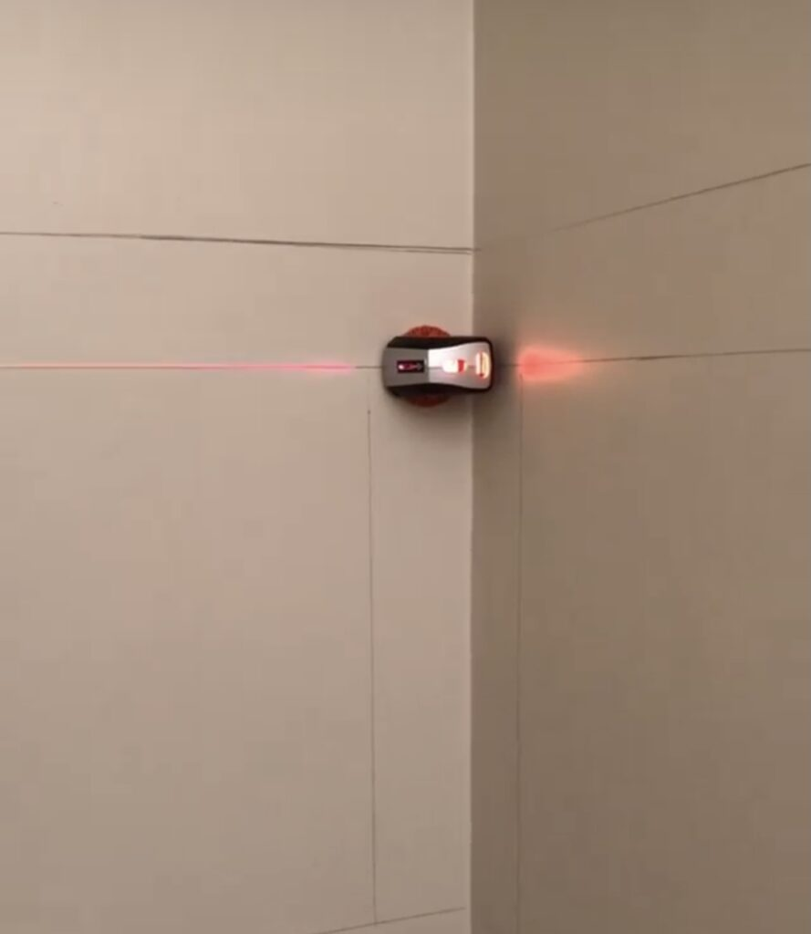 Laser Level on Wall