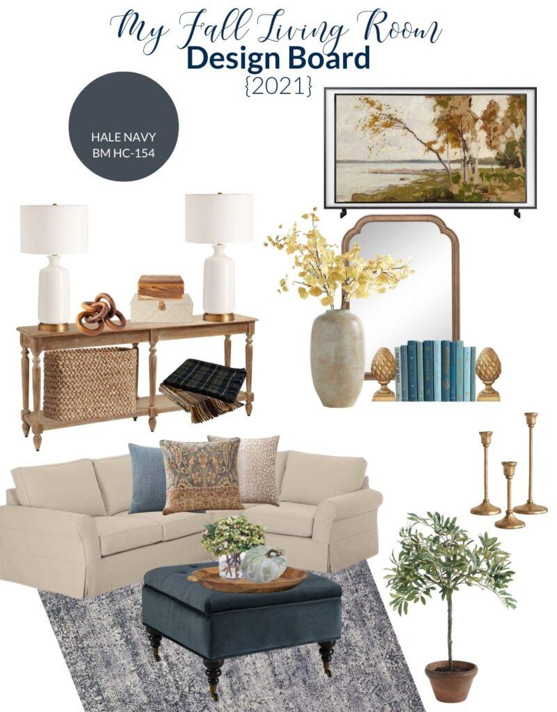 Fall Living Room Design Plan