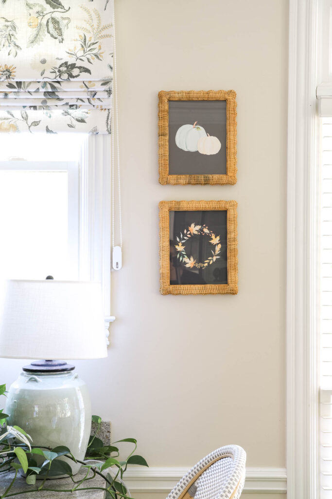 Wicker Frames with Navy Fall Printables